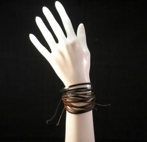 2 Leather Rope Easy Pull Bracelets