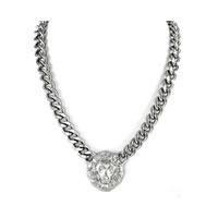 Lion Head Silver Pendant Necklace