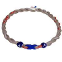 MLB 2 Rope Tornado Titanium Necklace  Atlanta Braves