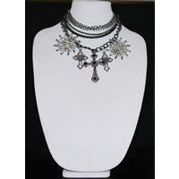 Multi-Layer Cross Statement Necklace