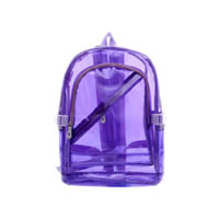 Neon Purple Transparent Youth Backpack