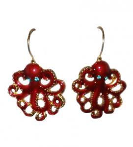 Octopus Drop Earrings