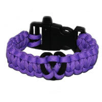 Heart Paracord Survival Rescue Bracelet (Light Purple)