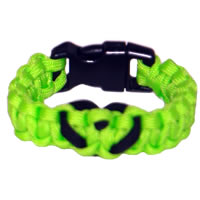 Heart Paracord Survival Rescue Bracelet (Neon Green)