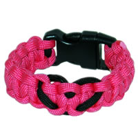 Heart Paracord Survival Rescue Bracelet (Neon Pink)