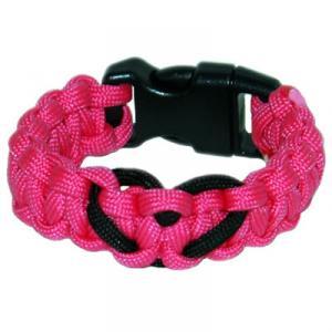 Heart Paracord Survival Rescue Bracelet<br /> (Neon Pink)