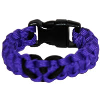 Heart Paracord Survival Rescue Bracelet (Purple)
