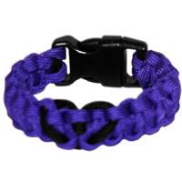 Heart Paracord Survival Rescue Bracelet (Purple)