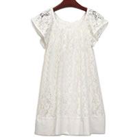 QUBE White Lace Dress