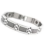 South Korean Titanium Steel White Fiber Magnetic Health Bracelet