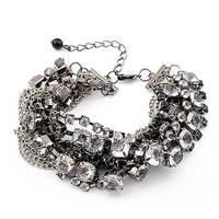 Smokey Rhinestone Bracelet