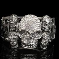 Skulls Bangle In Silver