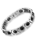 Stainless Steel Mosaic Magnetic Health Bracelet
