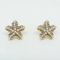 Starfish Pearl Stud Earrings