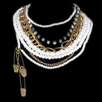 Statement Punk Pearl Necklace