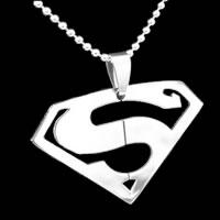Superman Silver Pendant Necklace