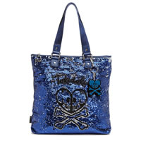 TOKIDOKI Salinas Skull and Heart Shopping Bag
