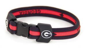 Eagles Wings Georgia Bulldogs Titanium Sport Bracelet