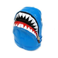 Toddler Shark Backpack in blue