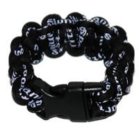 Paracord Style Titanium Bracelet - Black