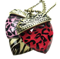 Leopard Heart Pendent Necklace