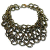 Trendy Gold Statement Necklace