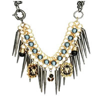Trendy Premium 2 Spider Jewel & Spike Necklace