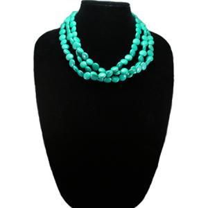 Trendy Turquoise Multi-Row Necklace