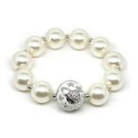 Giant White Bead Bracelet