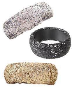ZAD Wide Large Glitter Bangle