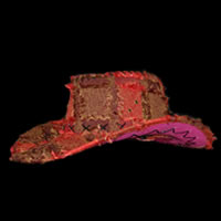 Womens Red Cowboy Bucket Western Hat with Chin Cord