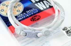 Phiten Japanese RAKUWA Titanium Necklace X30  <br />  (Pink Striped)