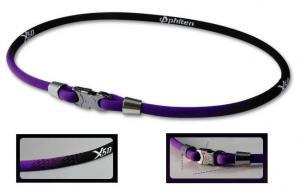 Phiten Japanese RAKUWA Titanium Necklace X50  <br />  (Black / Purple)