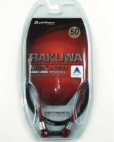 Phiten Japanese RAKUWA Titanium Necklace X50    (Red / Black)