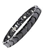 South Korean Black Ceramic & Tungsten Magnetic Health Bracelet
