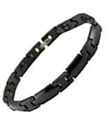 Black Ceramic Magnetic Health Rhombus Bracelet