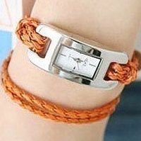 IEKE Leather Wrap Rope Watch