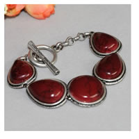 Lucky Brand Red Big Stones Bracelet