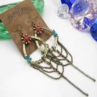 Lucky Brand 3-Strand Drop Earrings