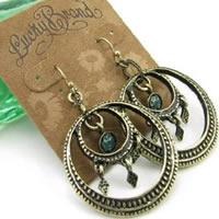 Lucky Brand Peace Hoop Earrings