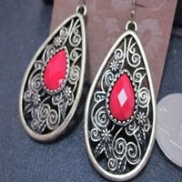 Lucky Brand Red Stone Earrings