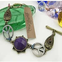 Lucky Brand Purple Stone Peace goddess Bracelet