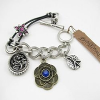Lucky Brand Dragon Peace Flower Bracelet